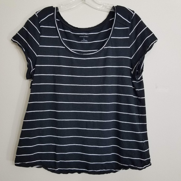 highly praised real quality special sales 4/$25 Banana Republic Malibu Striped Tee